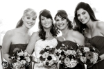 bride and her girls, surf and sand wedding and receptions