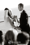 bride and groom at the alter, surf and sand hotel