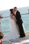 first kiss, ceremony, laguna beach