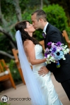 bride and groom kissing, orange county weddings