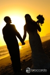 sunset at surf and sand, wedding photos