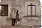 sepia engagement photo