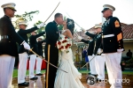 sword arch, Marine Corps Wedding
