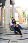 engagement photos on the stairs, UCI