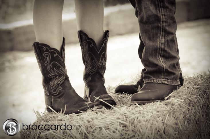 cowboy boot engagement photos broccardo photography