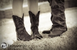 Cowboy boot engagement photos