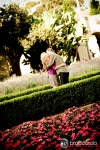 balboa park garden engagement photo