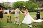 playing through, wedding photos at arroyo trabuco