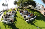 fish eye view of ole hanson beach club wedding