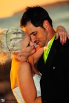 san clemente beach wedding, sunset