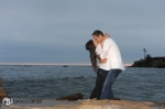 beach engagement photos, orange county