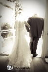 bride and father, san cleemnte casino wedding