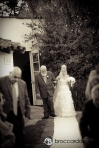 Bride and dad enter ceremony san clemente casino