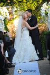 first kiss, san clemente casino wedding ceremony