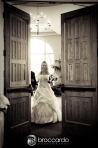 bride entering church at south shore church wedding ceremony