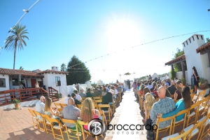 San Clemente historic cottage wedding ceremony