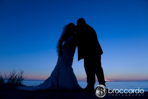 San Clemente Bluff wedding photo